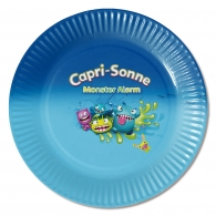 Assiettes en carton avec logo