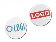 Badge publicitaire 40 mm