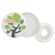 Badge personnalisable bouton biodégradable