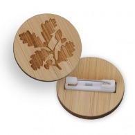 Badge personnalisable en bambou