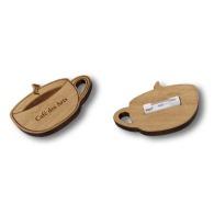 Badge personnalisable en bois