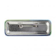 Badge logoté métal rectangulaire