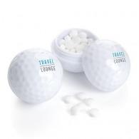 Balle de golf logotée avec bonbon à la menthe