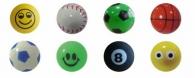 Balles rebondissantes avec marquage