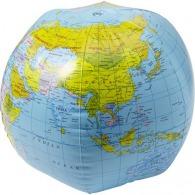 Ballon de plage publicitaire 'globe' en pvc