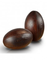 Ballon rugby old school cuir véritable