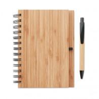 Bambloc - carnet personnalisable et stylo en bambou
