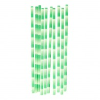 Set de 10 pailles personnalisées motif bambou