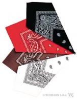 Bandana 55x55 cm couleurs assorties marron/rouge/noir/blanc | AC1997 | APTAFETES