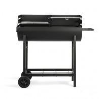 Barbecue logoté à charbon demi tonneau