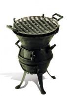 Barbecue logoté à l'ancienne gm
