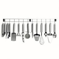 Barre 12 ustensiles de cuisine personnalisés en inox Domo Clip