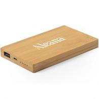 Batterie personnalisable externe 5.000 mah en bambou