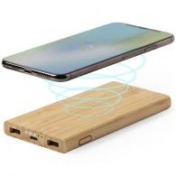 Batterie externe sans fil 6000 mah bambou