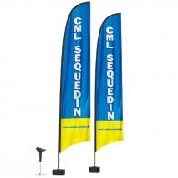 Beach flag personnalisé voile 6m