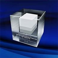 Blocs de verre presse-papiers avec gravure 3D personnalisé