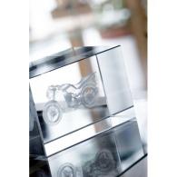 Blocs de verre presse-papiers avec gravure 3D personnalisable