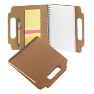 bloc-notes à spirales, bloc repositionnable avec stylo et marque-pages