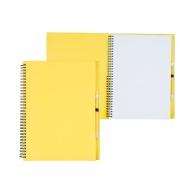 Bloc-notes à spirales en papier recyclé à couverture rigide avec stylo