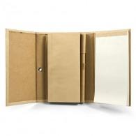 Bloc-notes personnalisable recyclé à couverture rigide avec stylo