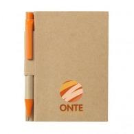 Bloc-notes logoté recyclé avec stylo à couverture rigide