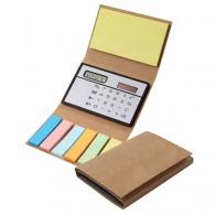 Bloc-notes repositionnable avec calculatrice et marque-pages