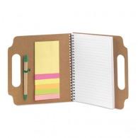 Bloc-notes repositionnable avec stylo et marque-pages
