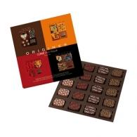 Boîte 20 palets origines assorties: Mexico,Nouvelle Guinée,Tanzanie,Ouganda