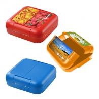 Boîte à goûter logotée Twin-Box sans cloison de séparation