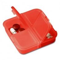 Boîte à pilules carrée 4 compartiments