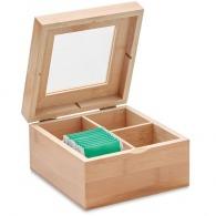 Boîte à thé personnalisée en bambou