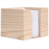 Bloc-notes cube sous coffre bois
