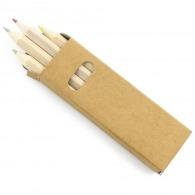 Boîte de 4 crayons de couleur logotés