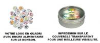 Boîte de bonbons clic-clac avec marquage