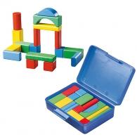 Boîte de jeux Cubes de construction multicolore
