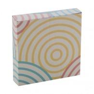 Boîte logotée en papier 80x80x18mm
