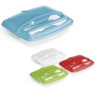 Boîte déjeuner personnalisable triple compartiment