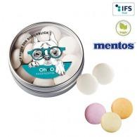 Boîte transparente avec Mentos
