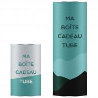 Boîte tube logotée 10x35cm
