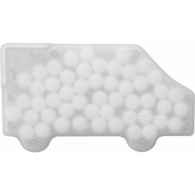 Bonbons à la menthe sans sucre dans une boîte en plastique