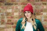 Bonnet personnalisable à pompon snowstar® - beechfield