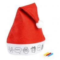 Bonnet personnalisé de noël à colorier