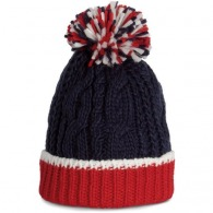 Bonnet personnalisable en maille tricot - k-up