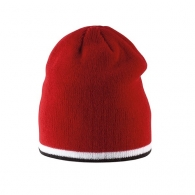 Bonnet tricoté avec bande bicolore contrastée sur bordure. Bonnets enfant  personnalisé a560e5e70c0