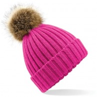 Knitted hat with pom-pom