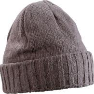 Bonnet personnalisable tricot avec rebord.