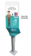 Borne de contrôle pour passe sanitaire personnalisable