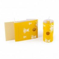Bougie personnalisée cire d'abeille avec chandelier