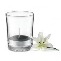 Bougie personnalisable dans un verre transparent