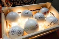 Boule de Noël publicitaire en plastique des océans